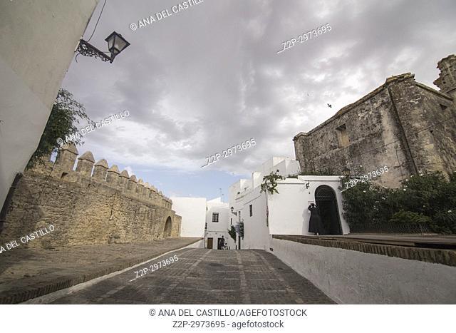 Vejer de la Frontera white village in, Cadiz province, Andalusia, Spain. Castle walls
