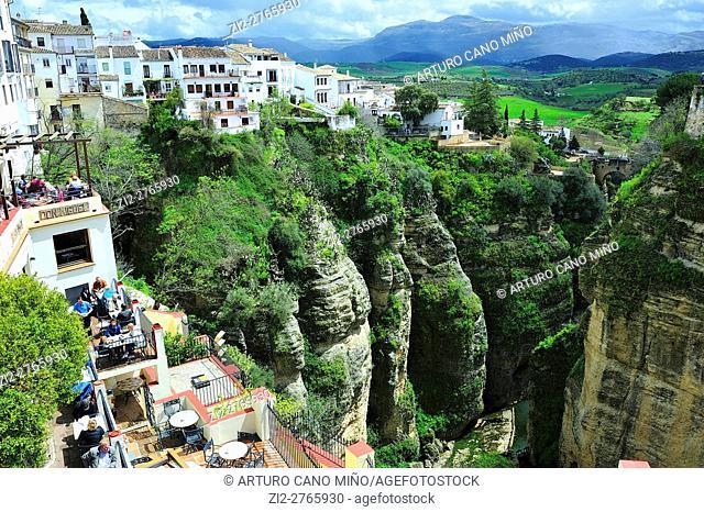 The Tajo gorge. Ronda, Málaga province, Spain