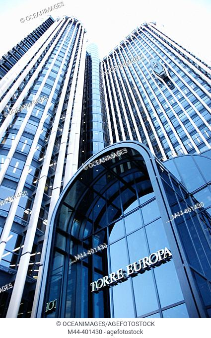 Europa Tower, Azca financial district. Madrid. Spain