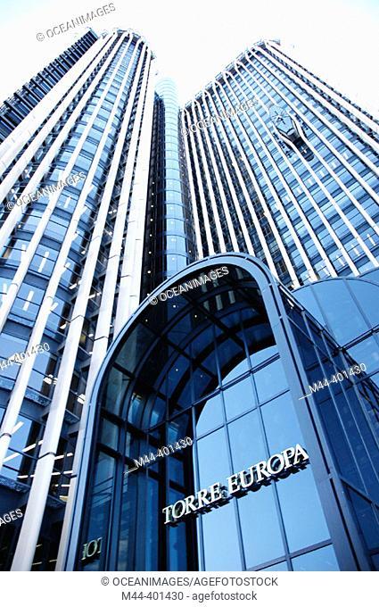 Europa Tower, Azca financial district. Madrid. Spain