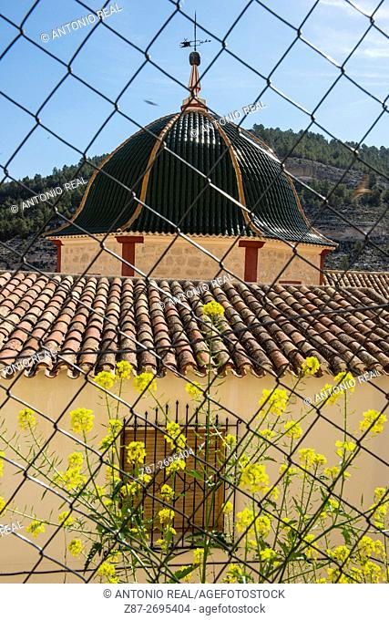 Parish church of Alcalá del Júcar. La Manchuela region, Albacete province, Castile La Mancha, Spain