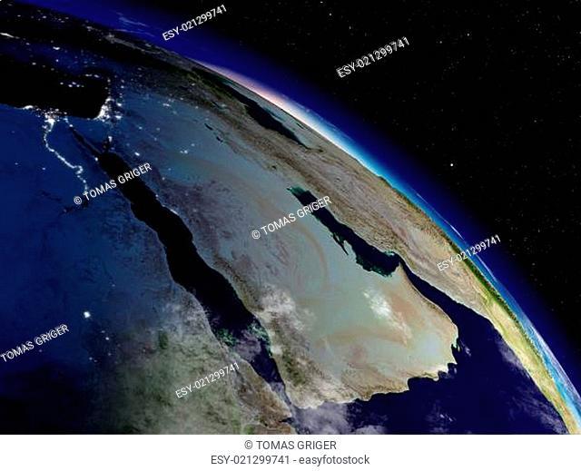 Morning over Arabian peninsula