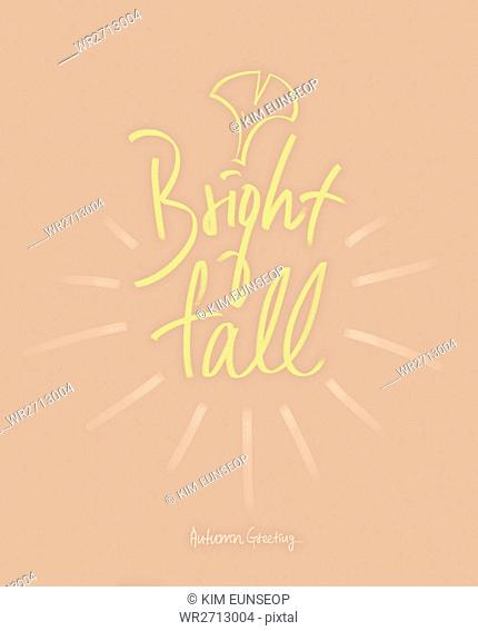 Calligraphic English message for AUTUMN