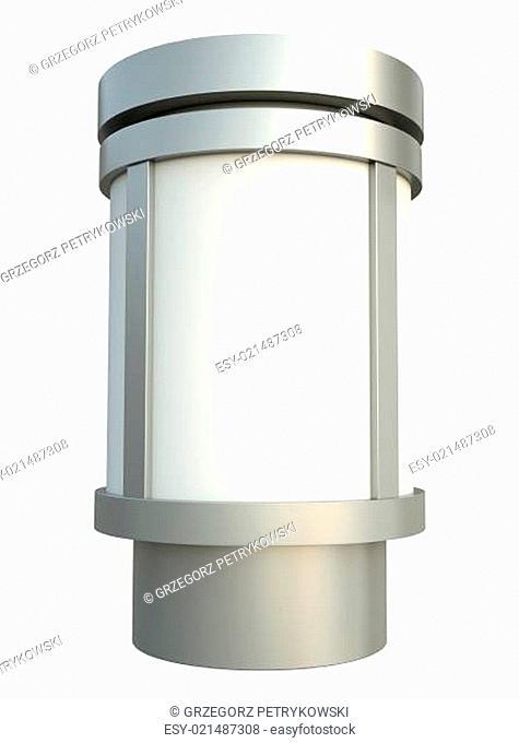 Citylight advertising pillar. 3D render