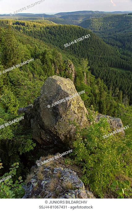 Hahnenklee Crags at Harz National Park, Lower Saxony, Germany