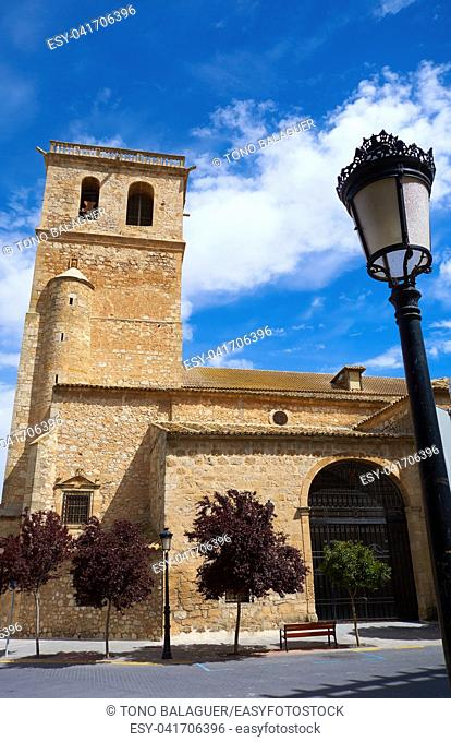 Quintanar de la Orden Santiago church by Saint James Way in Spain Toledo