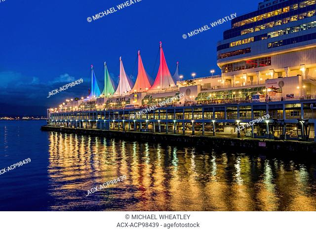 Christmas light display, Canada Place, Vancouver, British Columbia, Canada