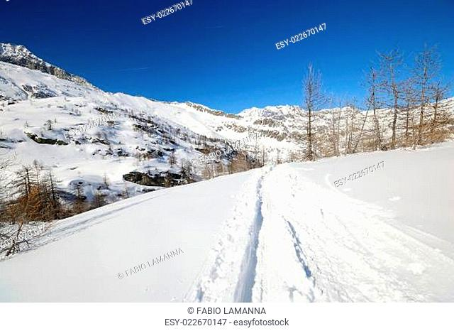 Mountaineering in winter