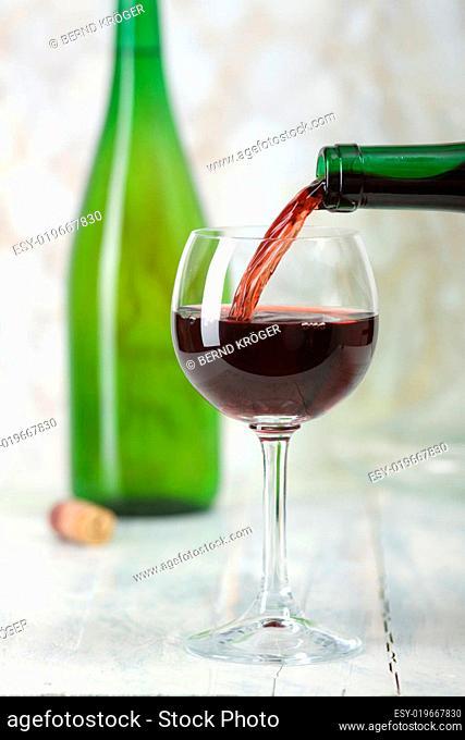 Volles Weinglas