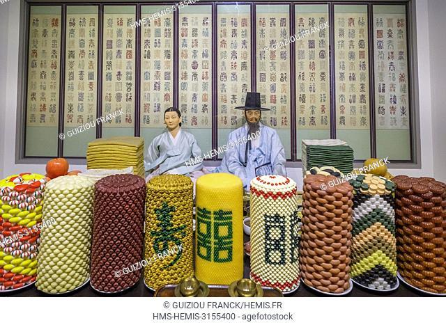 South Korea, Seoul, Jongno-gu district, National Folk Museum, sixtieth birthday feast
