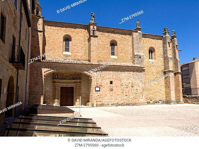 Nuestra Señora de los Huertos Church, Sigüenza, Guadalajara province, Castile La Mancha, Spain. Historical Heritage Site
