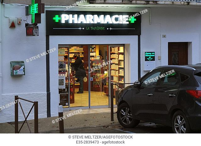 A pharmacy in Southern France