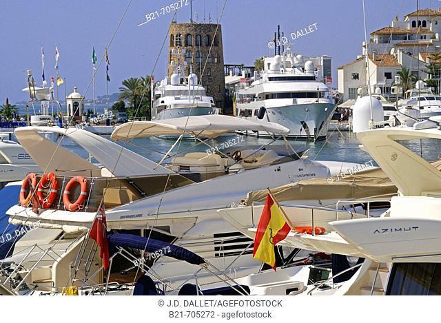 Puerto Banus. Marbella. Malaga province. Costa del Sol. Andalucia. Spain