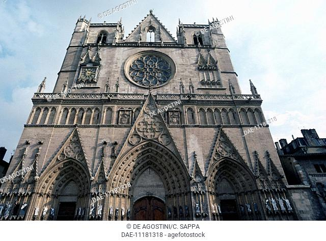 Lyon Cathedral (dedicated to Saint John the Baptist and Saint Stephen), 1180-1480, Lyon (UNESCO World Heritage List, 1998), Rhone-Alpes, France