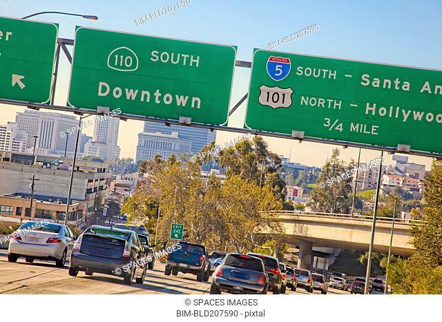A Freeway in Los Angeles