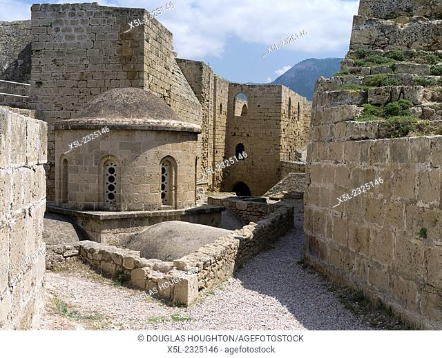 Girne Castle KYRENIA NORTHERN CYPRUS Venetian castle walls and