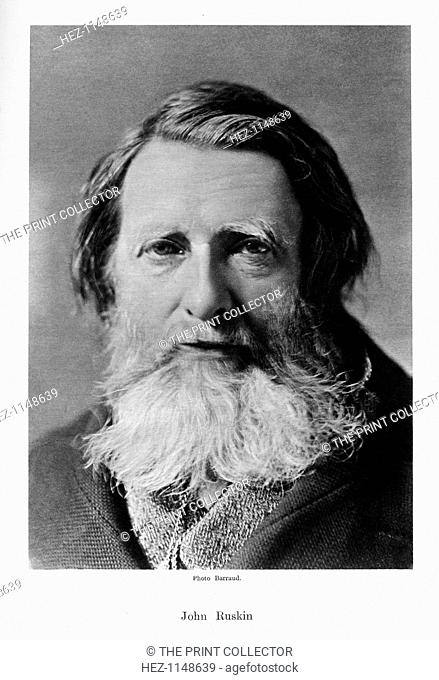 John Ruskin, English critic, poet and artist, c1880s. Ruskin (1819-1900) was a leading art and social critic, author, poet and artist of the Victorian period
