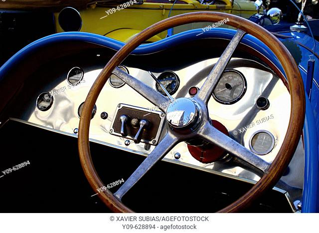 Talbot, Barcelona-Sitges vintage car rally. Spain