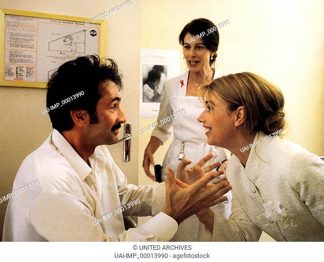Wo geht's zur Hochzeit meiner Frau?, (MA FEMME ME QUITTE) F 1995, Regie: Didier Kaminka, THIERRY LHERMITTE (li), MIOU-MIOU (re)