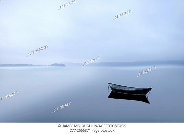 Landscape, boat, river
