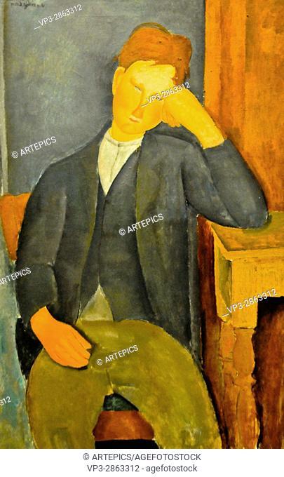 Amedeo Modigliani . Le Jeune Apprenti. 1919 . Musée de l'Orangerie - Paris