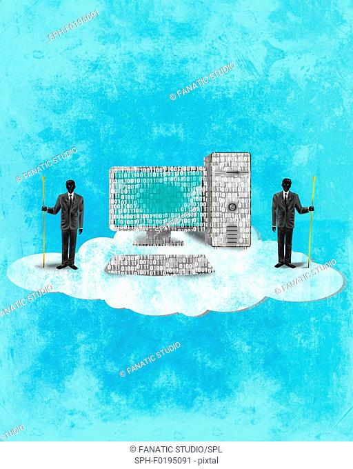 Illustration of cloud computing