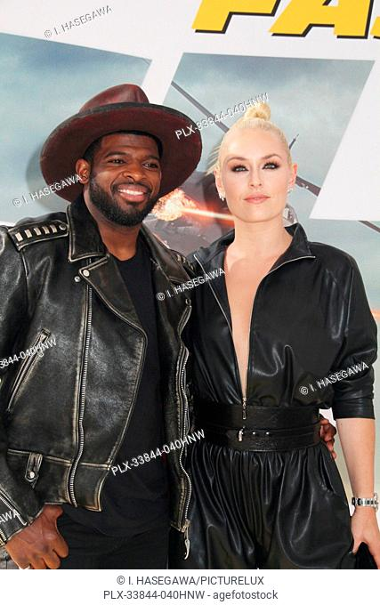 "P.K. Subban, Lindsey Vonn 07/13/2019 The world premiere of """"Fast & Furious Presents: Hobbs & Shaw"""" held at the Dolby Theatre in Los Angeles, CA Photo by I"