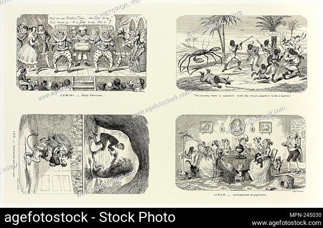 Gemini - Odd Fellows from George Cruikshank's Steel Etchings to The Comic Almanacks: 1835-1853 (top left) - 1846, printed c