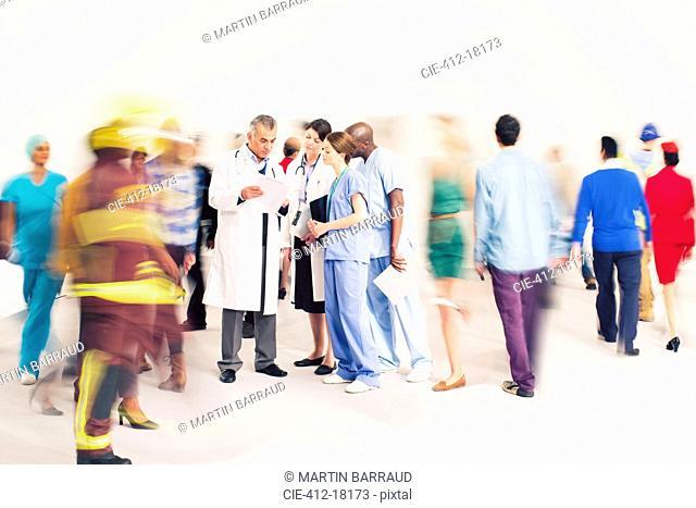 Workforce bustling around doctors and nurses