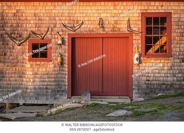 USA, Massachusetts, Cape Ann, Gloucester, Lanesville, old fishing shack