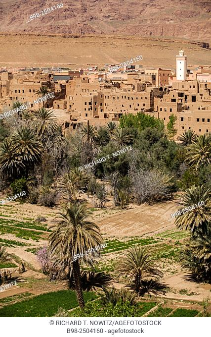 Morocco, Meknes-Tafilalet, Tinejdad, Traditional desert architecture