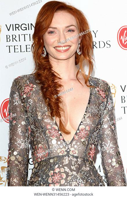 Virgin TV BAFTA Television Awards winners boards at Royal Festival Hall, South Bank, London Featuring: Eleanor Tomlinson Where: London