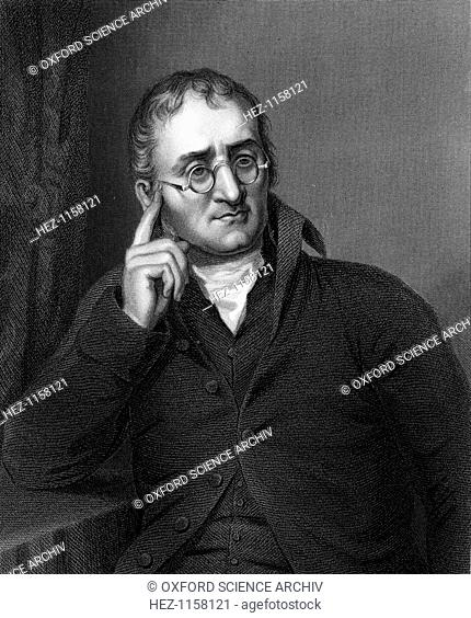 John Dalton, English chemist, c1860. Dalton (1766-1844) was born near Cockermouth, Cumbria. In 1794 he described colour blindness (Daltonism) from which both he...