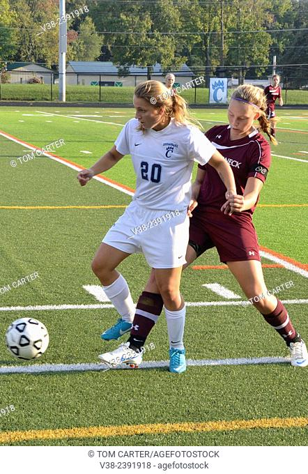 Girls high school soccer in Chesapeake, Maryland, USA