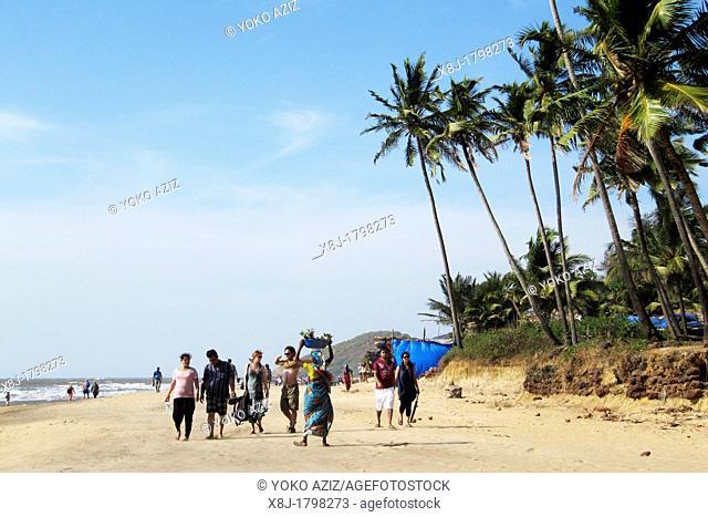 India, Goa region, Goa, Anjuna beach