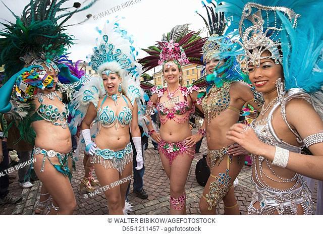 Finland, Helsinki, Helsinki Day Samba Carnaval in Senate Square, Senaatintori, NR