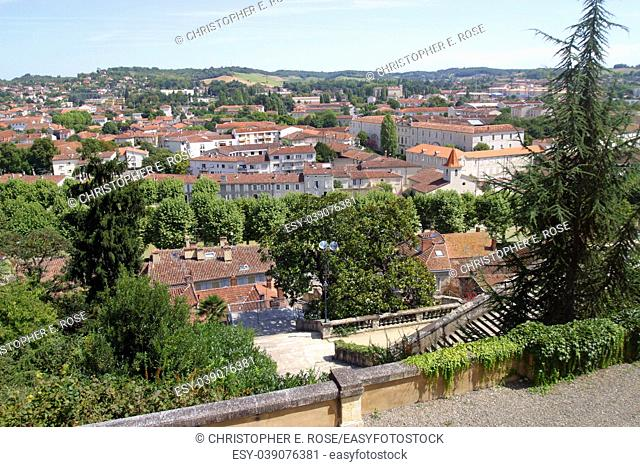 France, Midi Pyrenees, Gers 32, skyline view over Auch