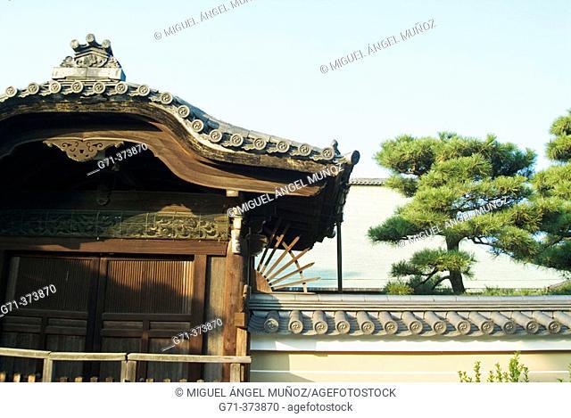 Kenninji Temple complex (13th century, the oldest Zen Temple in Kyoto). Gion district. Kyoto, Kinki (Kansai) Region. Japan