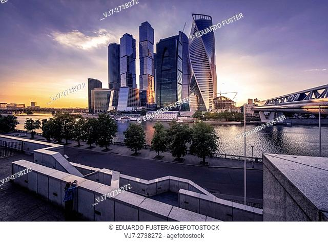 Moscow City: financial district