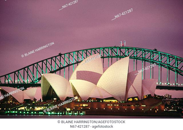 Opera House and Harbour Brige, Sydney. New South Wales, Australia
