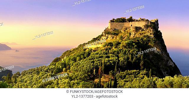 Angelokastro,  Angelos Komnenos Castle  Byzantine Castle, Corfu Ionian Island, Greece
