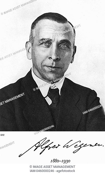 Alfred Lothar Wegener 1880-1930 German geophysicist and meteorologist  Continental Drift Wegener Hypothesis: 1915