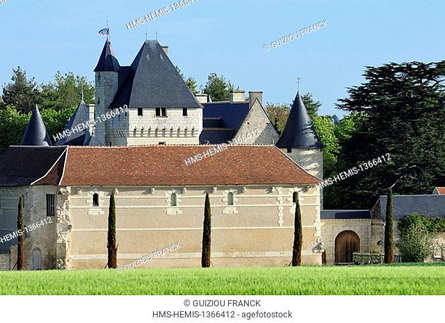 France, Indre et Loire, Loire Valley, Lemere, the castle Le Rivau