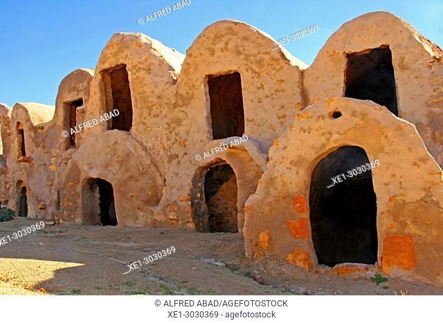 Ksar Hallouf, traditional Berber architecture, Tunisia