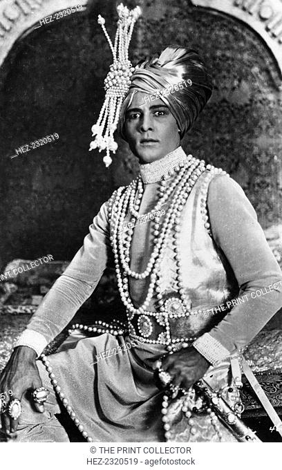 Rudolph Valentino (1895-1926) in 'The Young Rajah', 1922
