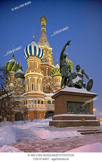 Vasily the Blessed cathedral and Red Square. Moscow. Russia
