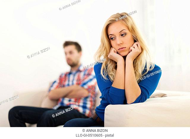 Young couple have problems in relationship Debica, Poland