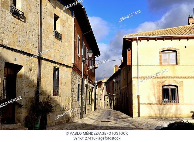 Small square in Castrojeriz, Burgos, Spain
