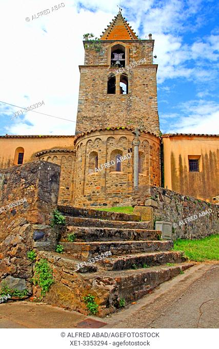parish church, Sant Gregori, Vall de Llémena, Girona, Catalonia, Spain