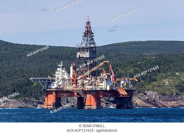 West Aquarius, Oil platform, Bay Bulls, Newfoundland, Canada